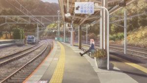 ゆるキャン△ 甲斐常葉駅 ホーム