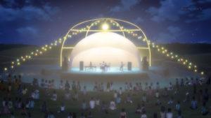 ISLAND アイランド 半ドーム状ポール 羽伏浦公園の中央付近 ライブ