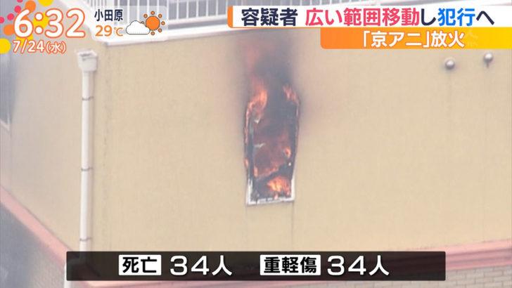京都アニメーション第1スタジオ 火災