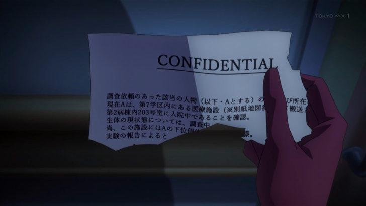とある科学の一方通行 機密文書 該当の人物 ラストオーダー