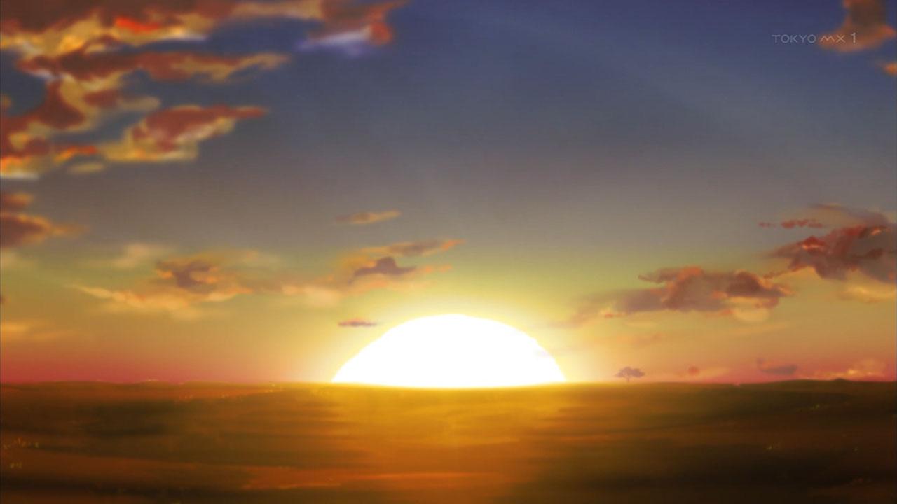 アフリカのサラリーマン 太陽が昇る
