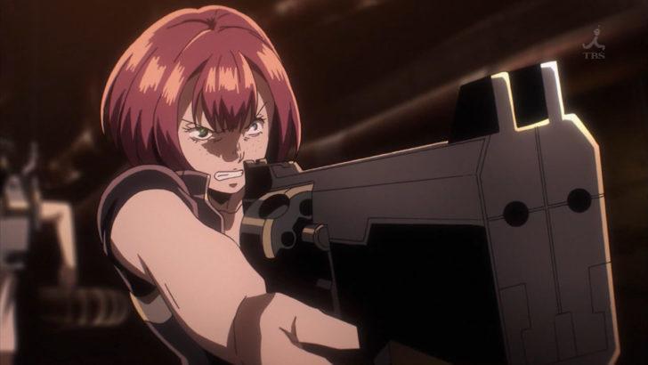 ノー・ガンズ・ライフ 銃を構えるカレン デザートイーグル