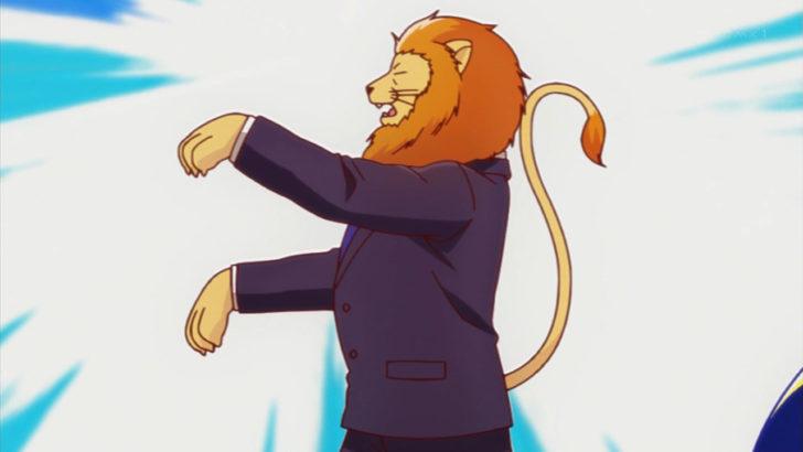アフリカのサラリーマン フジョーを披露するライオン