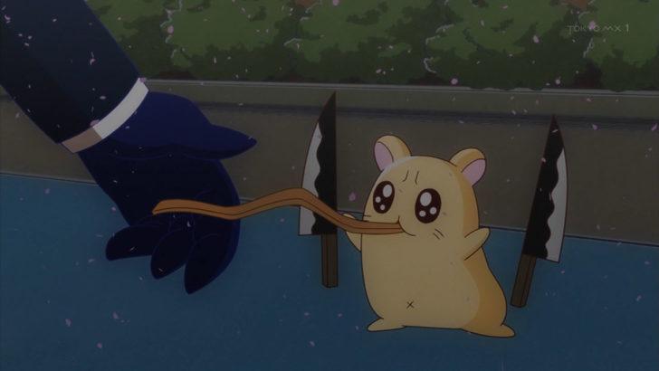 アフリカのサラリーマン さきイカを食べる殺傷ハムスター