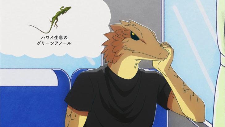 アフリカのサラリーマン グリーンアノールの姿を思い浮かべるトカゲ