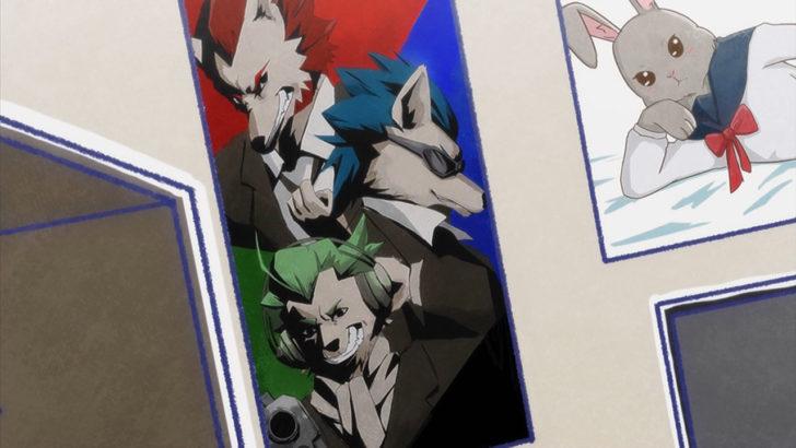 アフリカのサラリーマン 赤青緑のオオカミのポスター
