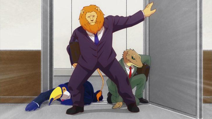 アフリカのサラリーマン プレゼンにギリギリ到着したライオンたち