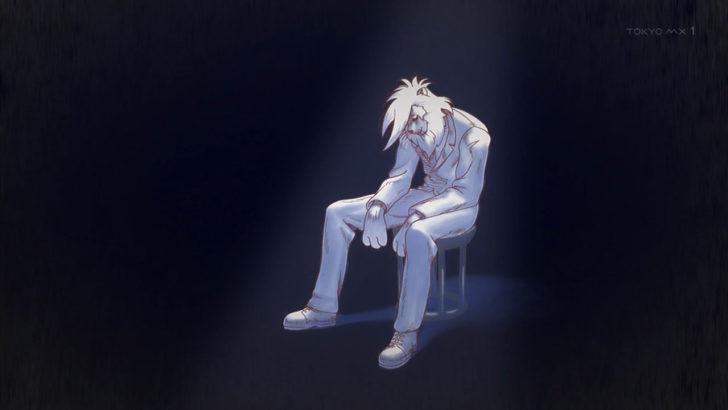 アフリカのサラリーマン 真っ白になって椅子に座り込むライオン